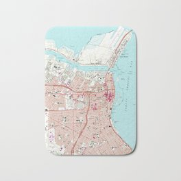 Vintage Map of Corpus Christi Texas (1968) Bath Mat