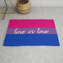 Love is love bisexual flag Rug