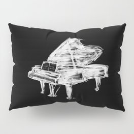 Black Piano Pillow Sham