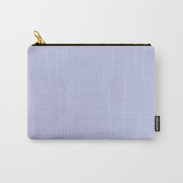 Lilac - Lavender - Pastel Purple Solid Color Pairs With Valspar America Iris Moon 4004-9C Carry-All Pouch