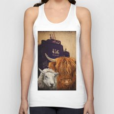 Sheep Cow 123 Unisex Tank Top