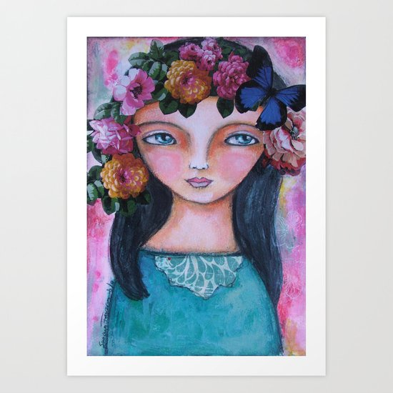 Today I am a flower! Art Print