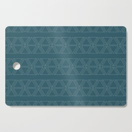 lines geo-teal Cutting Board
