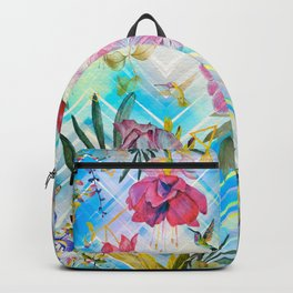 Geometric with tropical nature Backpack