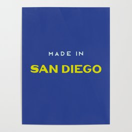 Made in San Diego Poster