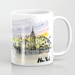 New York. Watercolor and ink. Coffee Mug