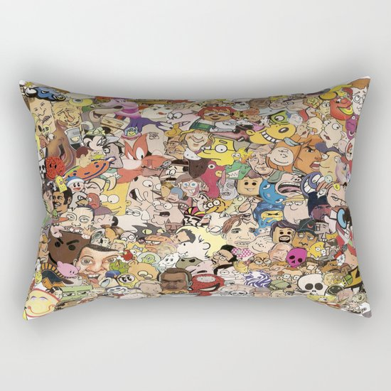 Cartoon Collage Rectangular Pillow