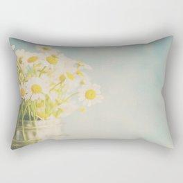 A mason jar full of pretty flowers. Rectangular Pillow