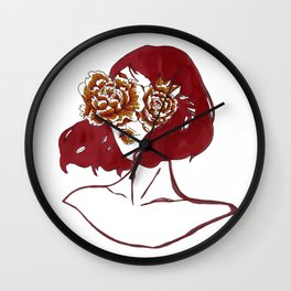 Flowers in My Eyes Wall Clock