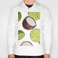 coconut wishes Hoodies featuring Lime & Coconut  by Nora Buschman