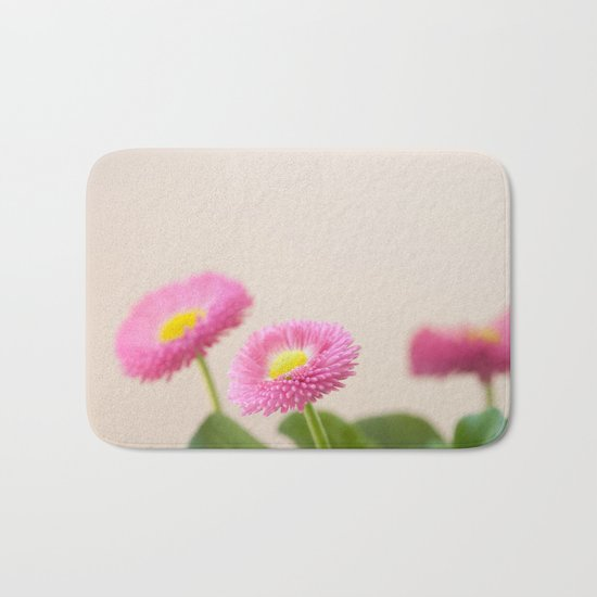 Pink Daisies in the Spring #1 #decor #art #society6 Bath Mat