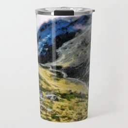 The top of Ben Nevis, Scotland, is shaded by clouds. Travel Mug