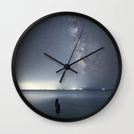 Observing Milky Way from the sea Wall Clock