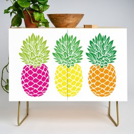 Pineapple Trio Credenza
