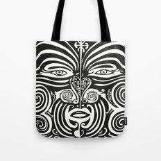 Maori Moko | Tribal Tattoo | New Zealand | Black and White Tote Bag