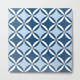 Mid century cool blue Metal Print