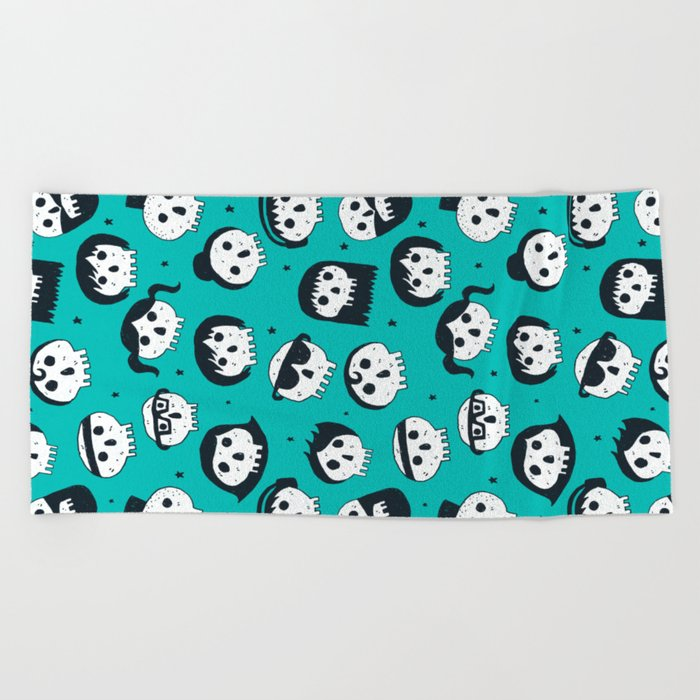 The Well Dressed Dead Beach Towel