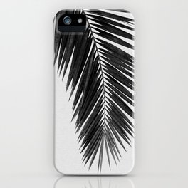 Palm Leaf Black & White I iPhone Case