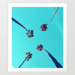 ktown palm trees Art Print
