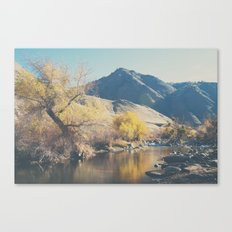 down by the river ... Canvas Print
