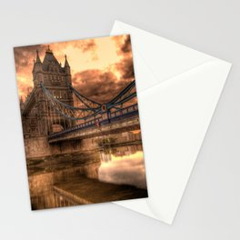 Photo of a gloomy English bridge Stationery Cards
