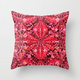 Red Caleidoscope Throw Pillow