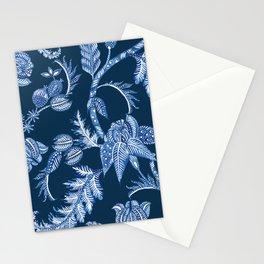 ROYAL BLUE BATIK FLORAL Stationery Cards