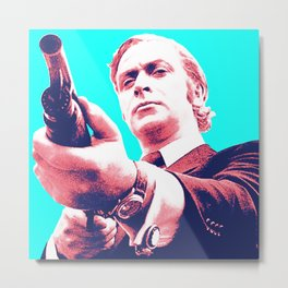 Fathers Day - Michael Caine screen print Metal Print