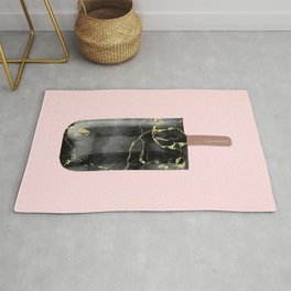 Black Marble with Gold Popsicle Rug