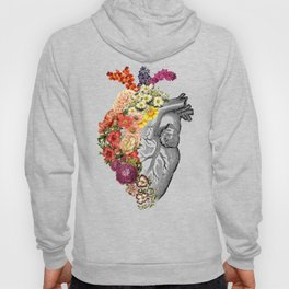Flower Heart Spring White Hoody