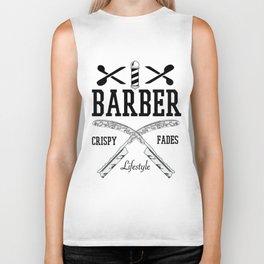 Barber Life | Barbershop Barber T-Shirt Biker Tank