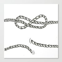 louis tomlinson Canvas Prints featuring Louis Tomlinson rope by Adele_F