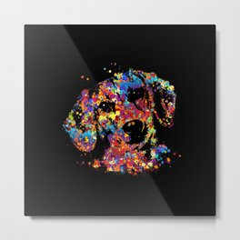 Colorful Dachshund dog  - Doxie Metal Print