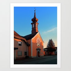 The cemetary church of Aigen I | architectural photography Art Print
