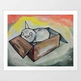 Burrito Unicorn in a box Art Print