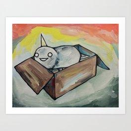 Burrito Unicorn in a box Art Print
