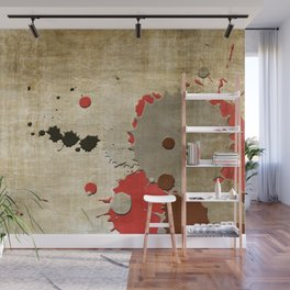 Abstract Lemonchiffon Burlywood Splash Wall Mural