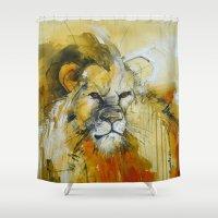 predator Shower Curtains featuring The Predator by Irina Rumyantseva