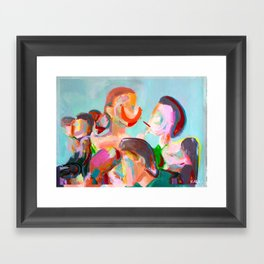 Crowded Places Framed Art Print
