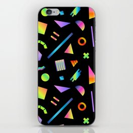 Neon Gradient Postmodern Shapes iPhone Skin