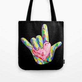 ASL I HEART YOU! Tote Bag