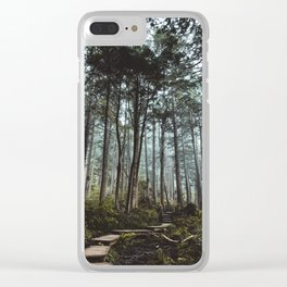 Trail through the trees Clear iPhone Case