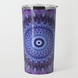 Mandala in violet and blue tones Travel Mug