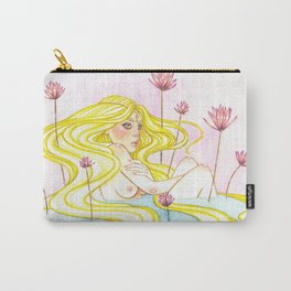 Golden Lilly Carry-All Pouch