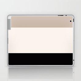 black tan cream bold stripes Laptop & iPad Skin