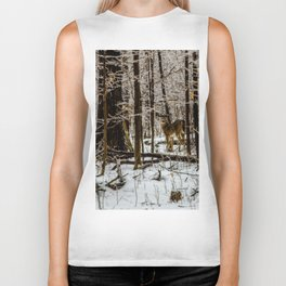Deer in the Glistening Forest by Teresa Thompson Biker Tank