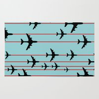 planes Area & Throw Rugs featuring Planes by Frances Roughton