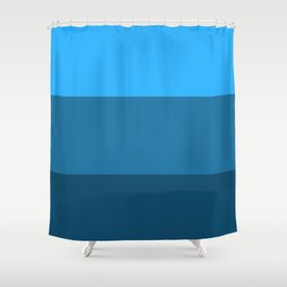 Blue Gradient Pattern Shower Curtain