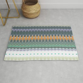 Colourful ethnic striped pattern Rug