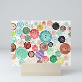 Buttons! Mini Art Print